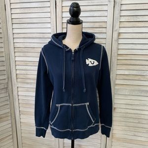 True Religion Navy Blue/White Hoodie